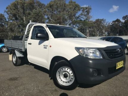 2012 Toyota Hilux TGN16R MY12 Workmate White 5 Speed Manual 2D Cab Chassis Richmond Hawkesbury Area Preview