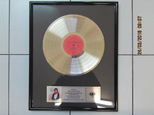 Collectible Bruce Springsteen 500,000 Copies Sold Gold Album