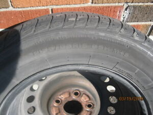 """FOUR 15"""" summer tires and rims for a 2012 Hinda Civic"""