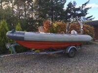5.5m Avon RIB / 90hp Yamaha outboard engine / Trailer / boat cover