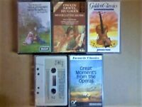 CSL VARIOUS COMPOSERS ORCHESTRAS CLASSICAL OPERA PRERECORDED COMPILATION CASSETTE TAPES