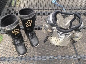 Kids MX Boots and Chest Protector
