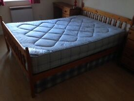 Solid Pine Double Bed for collection