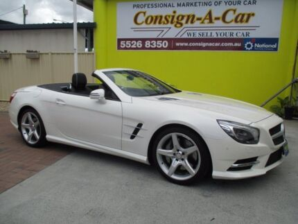 2013 Mercedes-Benz SL500 R231 7G-Tronic + Diamond White Bright 7 Speed Sports Automatic Roadster