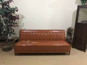 Mid Century Modern Teak Davenport Pull Out Couch