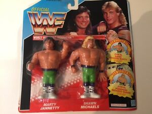 HASBRO MOC WWF Figures Marty Jannetty & Shawn Michaels