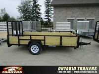 SOLD...2015 Sure-Trac 6 X 12 FT 3-Board High Side Tube Top
