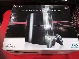PS3 ORIGINAL 40GB WITH 12 MONTH WARRANTY THAT COVERS CONSOLE + CABLES.