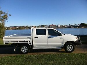 2007 Toyota Hilux KUN26R MY07 SR Glacier White 5 Speed Manual Cab Chassis Macksville Nambucca Area Preview