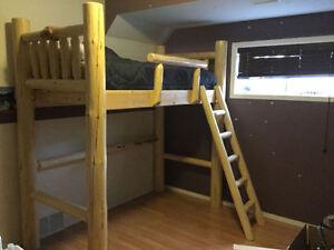 Loft Pine Pole Twin Bed