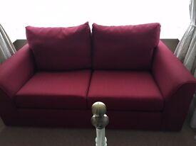 Lovely dark red sofa for sale.