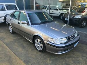 2002 Saab 9-3 MY02 Turbo Anniversary Platinum Grey 4 Speed Automatic Hatchback Hobart CBD Hobart City Preview