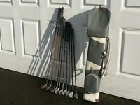 Set of men's RH golf clubs + bag