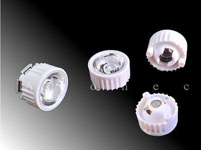 1x Power LED 50 mm Reflektor mit Glaslinse Optik für 20W 30W 50W 100W LEDs