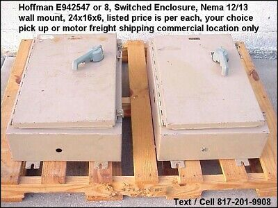 Hoffman E-942547 Switched Electrical Enclosure Backplate 24x16x6 Nema 1213