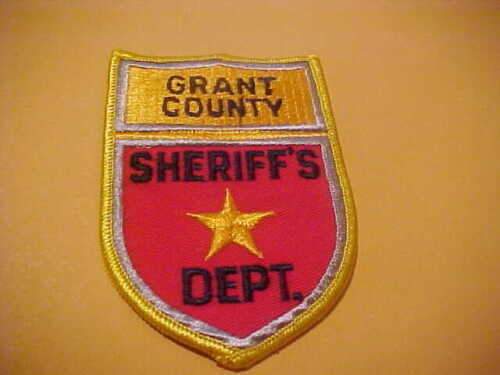 GRANT COUNTY NORTH  DAKOTA POLICE PATCH  SHOULDER SIZE NEW TYPE 2