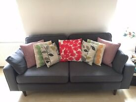Sofa Workshop Grey 2 Seater Sofa For Sale - Like New