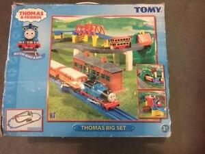 Thomas & Friends train set with battery operated train and bus Redcliffe Belmont Area Preview