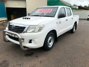 2012 Toyota Hilux KUN16R MY12 SR White 5 Speed Manual Dual Cab Pick-up Berrimah Darwin City Preview