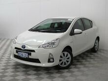 2013 Toyota Prius c NHP10R Hybrid White Continuous Variable Hatchback Jandakot Cockburn Area Preview
