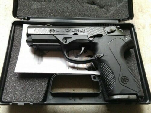 BRUNI P4 BERETTA MOD 85 Semi Automatic Blank Firing Gun Blued Finish 8mm
