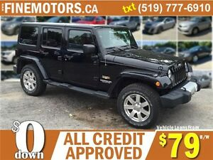 2012 JEEP WRANGLER UNLIMITED SAHARA * 4x4 * BOTH HARD & SOFT TOP London Ontario image 1