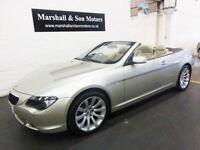 2006 06 BMW 6 SERIES 3.0 630I SPORT 2D AUTO 255 BHP CONVERTIBLE