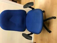 Sturdy swivel chair with fabric cover for home or office, good condition