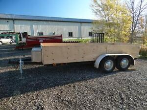 Tandem axle 14 foot landscape trailer