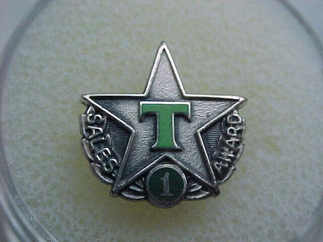 Texaco greenT Sales Pin, Silver Pin