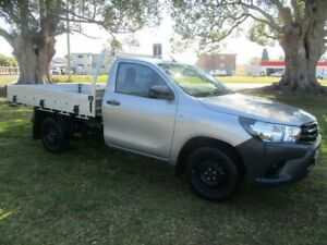 2017 Toyota Hilux GUN125R Workmate Silver 6 Speed Manual Cab Chassis Kempsey Kempsey Area Preview