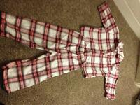 WHITE COMPANY Kids Tartan Pyjamas jammies 12-18 months (worth £26)