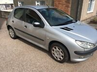 NEW MOT, Peugeot 206 Zest 1.1 54 plate 5dr low mileage