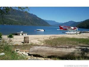 Rare 73' waterfront lot for sale on Mabel Lake in the Okanagan