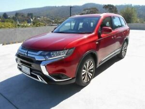 2018 Mitsubishi Outlander ZL MY19 ES 7 Seat (AWD) Red Continuous Variable Wagon North Hobart Hobart City Preview