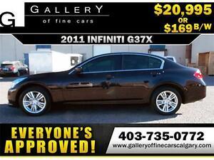 2011 Infiniti G37x AWD $169 bi-weekly APPLY TODAY DRIVE TODAY