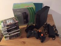 Xbox 360s - 250GB - perfect condition in original box - with two controllers and 14 games