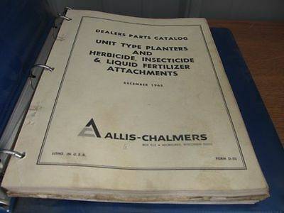 Allis Chalmers Planter Parts | Owner's Guide to Business and