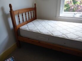 Lovely single bed and mattress