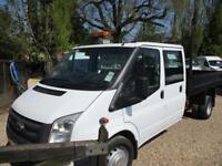2014 Ford Transit 2.2TDCi 350 LWB Double CAB TIPPER PICK UP 60k genuine NO VAT