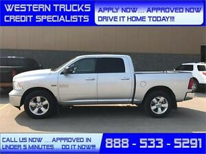 2014 Ram 1500 SLT 4x4 ~ 5.7L Hemi~8 Speed ~ Sunroof ~ $223 B/W