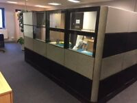 Office 3/4 Length Privacy Partitioning