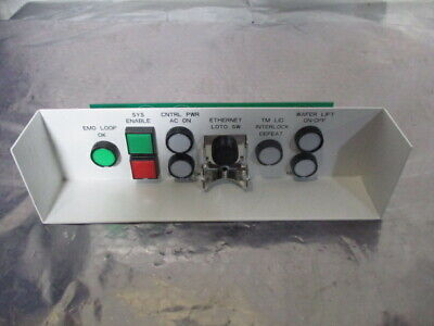 Novellus C450 Pushbutton Control Assy, Wafer, Lift, Interlock, PCB, 452994