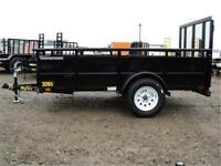 5 x 10 Solid Side Utility Trailer - 2995# GVWR, Radial Tires!