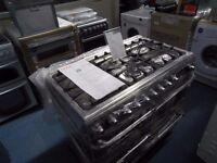 EX-DISPLAY ALL GAS 5 BURNER HOB HOTPOINT RANGE COOKER REF: 11082