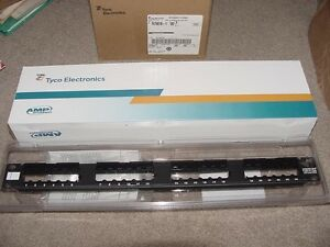 amp patch panel 6 tyco amp netconnect 24 port 1u discrete patch panel assembly sl series new
