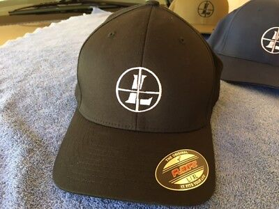 Leupold Logo Embroidered Flexfit Ball Cap Hat Black, Olive Green or Navy Blue (Blue Ball Cap Hat)