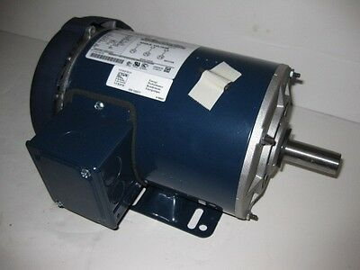 1 Hp 1800 Rpm Tefc 200 Volts Marathon 143t 3 Phase Fan Compressor Motor New