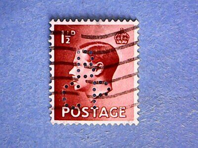"""GB. KEVIII 1936 1½d Red-Brown. SG459. Wmk W125. P15 x 14. Used. """"BCP"""" perfin."""