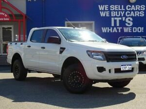 2015 Ford Ranger PX XL Double Cab 4x2 Hi-Rider White 6 Speed Sports Automatic Utility Welshpool Canning Area Preview